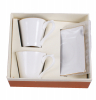Кофейный набор White Princess 2 чашки для эспрессо 80мл с блюдцами