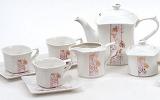 Чайний сервіз Spoleto B24 220мл 15 предметів на 6 персон