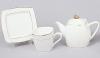 Чайный сервиз White Princess 13 предметов, квадратный