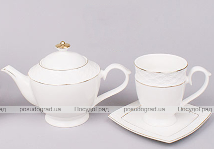 Чайный сервиз White Princess 13 предметов, круглый