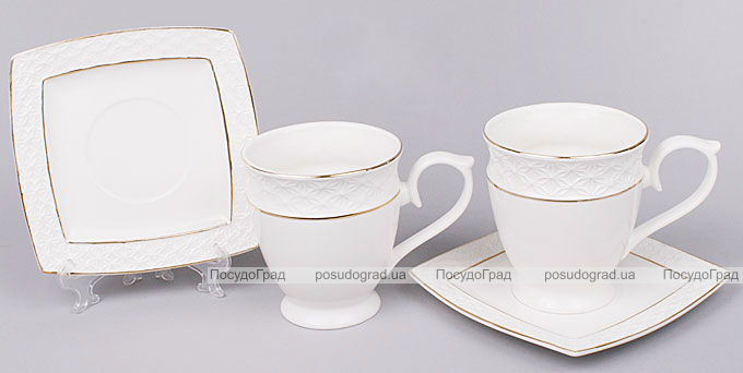 Чайный сервиз White Princess 12 предметов, круглый