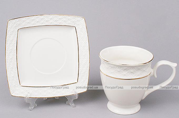 Чайная пара White Princess чашка 280мл и блюдце
