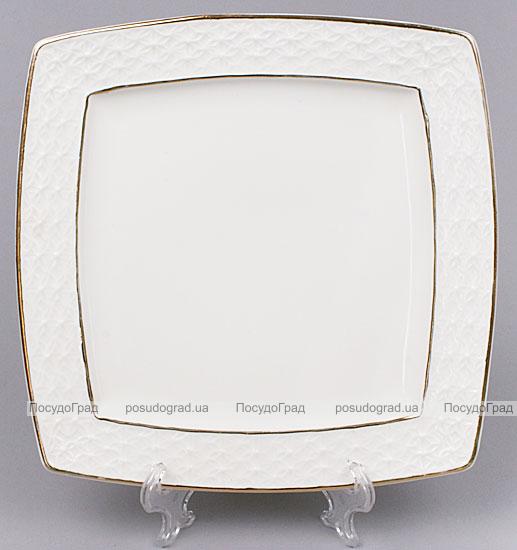 Набор тарелок White Princess 16см 4 квадратных тарелок