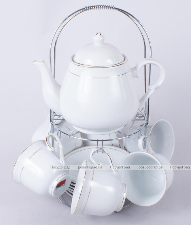 Чайный набор Tea Party-I Чайник, 6 чашек 240мл, 6 блюдец и подставка с ручкой