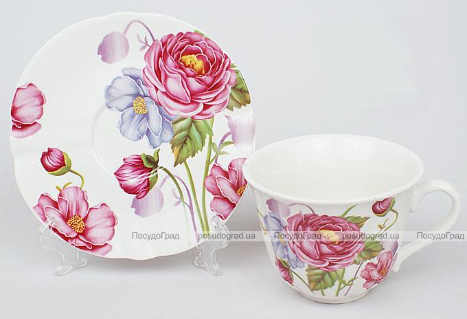 Чайная пара Romantic Life-73, чашка 220мл с блюдцем