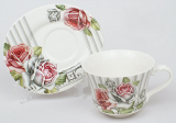 Чайна пара Romantic Life-77, чашка 220мл з блюдцем