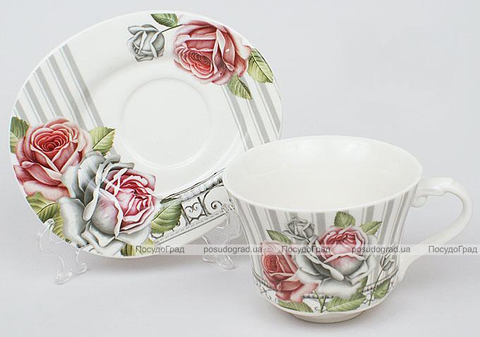 Чайная пара Romantic Life-77, чашка 220мл с блюдцем