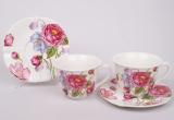 Чайный набор Romantic Life-75, 6 чашек 220мл и 6 блюдец