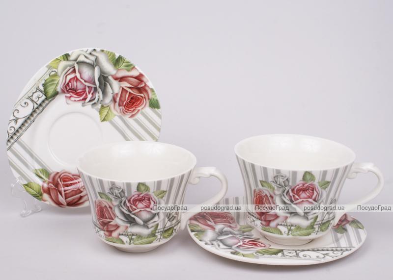 Чайный набор Romantic Life-80, 6 чашек 220мл и 6 блюдец