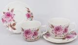 Чайный набор Romantic Life-71, 2 чашки 220мл и 2 блюдца в подарочной коробке