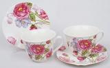 Чайный набор Romantic Life-74, 2 чашки 220мл и 2 блюдца в подарочной коробке