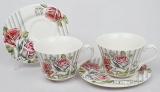Чайный набор Romantic Life-78, 2 чашки 220мл и 2 блюдца в подарочной коробке