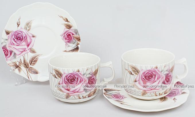 Чайный набор Romantic Life 6 чашек 220мл и 6 блюдец