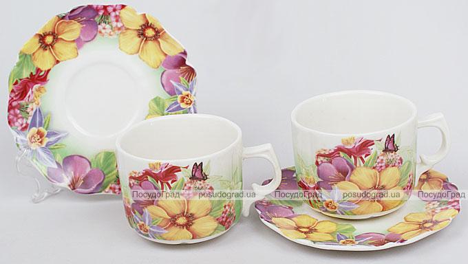 Кофейный набор Romantic Life E83 2 чашки 90мл и 2 блюдца