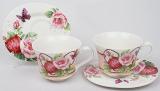 Чайный набор Romantic Life E88 2 чашки 220мл и 2 блюдца