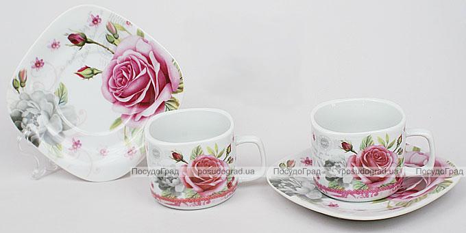 Кофейный набор Romantic Life E91 2 чашки 90мл и 2 блюдца