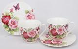 Кофейный набор Romantic Life E93 2 чашки 90мл и 2 блюдца