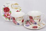 Кавовий набір Romantic Life E98 2 чашки 90мл і 2 блюдця