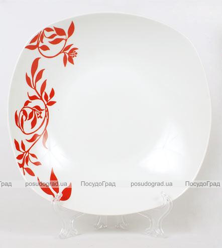 Фарфоровая тарелка Napoli-B23 суповая полупорционная Ø23см