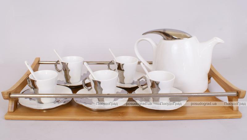 Кофейный сервиз Silver Glade 80мл 20 предметов на 6 персон