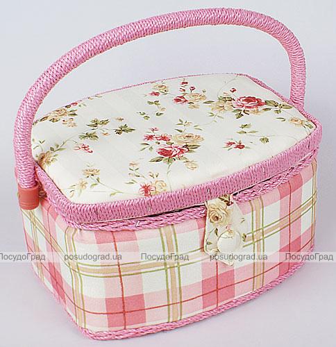 "Шкатулка для рукоделия ""Весна в Париже Pink Cell"", 23.5x18.5x13.5см"