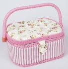 """Шкатулка для рукоділля """"Весна в Парижі Classic Pink"""", 23.5x19.5x11.5см"""