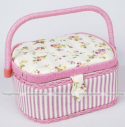 """Шкатулка для рукоделия """"Весна в Париже Classic Pink"""", 23.5x19.5x11.5см"""