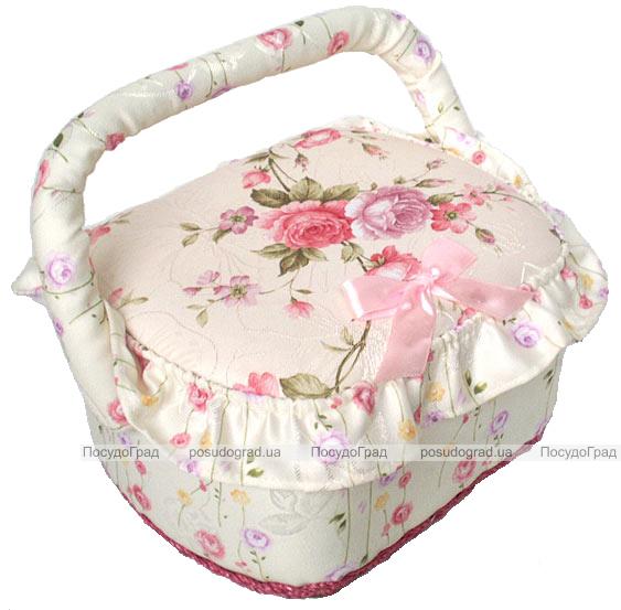 """Шкатулка для рукоделия """"Весна в Париже Pale Pink"""", 23x19x14см"""