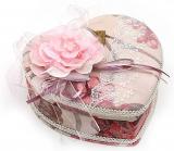 """Шкатулка для прикрас """"Мила Дама Rose Heart"""" з дзеркальцем, 17.8x15x7см"""