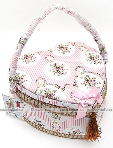 """Шкатулка для рукоділля """"Весна в Парижі Classic Pink Heart"""", 24x24x12см"""