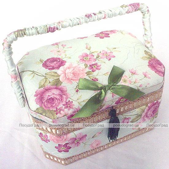 """Шкатулка для рукоделия """"Весна в Париже Delicate Rose"""", 23.5x17.5x14.5см"""