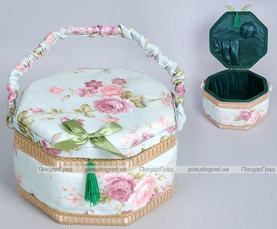 "Шкатулка для рукоделия ""Весна в Париже Delicate Rose Hexagon"", 23.5x23.5x14см"
