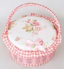 "Шкатулка для рукоделия ""Мастерица Pink Cart"", 23.5х23.5х12см"