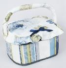 """Шкатулка для рукоделия """"Весна в Париже Blue Band"""", 23x19x14см"""