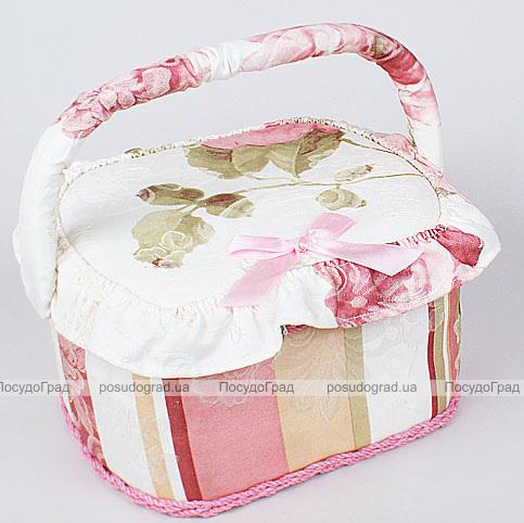 """Шкатулка для рукоделия """"Весна в Париже Pink Band"""", 23x19x14см"""