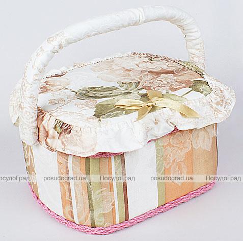 """Шкатулка для рукоделия """"Весна в Париже Beige Band"""", 23x19x14см"""