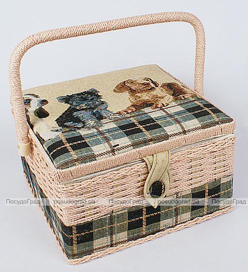 """Шкатулка для рукоделия """"Мастерица Tapestry Dogs"""", 24.5x24.5x15.5см"""