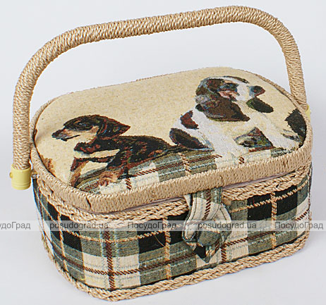 "Шкатулка для рукоделия ""Мастерица Tapestry Puppies"", 23x19x10см"