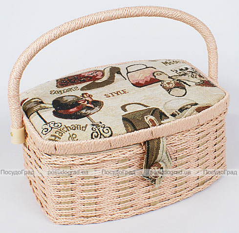 """Шкатулка для рукоделия """"Мастерица Tapestry Style"""", 23.5x18.5x11см"""