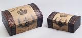"Набор из двух деревянных шкатулок ""Дженнифер Hotel Eienne"", 22x15x11см и 18x11x9см"