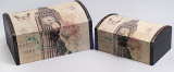 """Набор из двух деревянных шкатулок """"Дженнифер Big Ben"""", 22x15x11см и 18x11x9см"""
