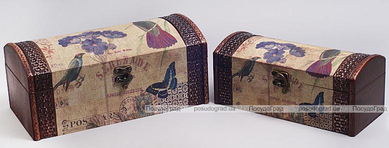 """Набор из двух деревянных шкатулок """"Дуардин Серенада"""", 28x14x12см и 24x10x10см"""