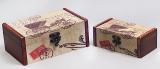 """Набор из двух деревянных шкатулок """"Дженнифер Coach"""", 18x17x7см и 14x7x6см"""