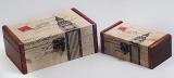 """Набор из двух деревянных шкатулок """"Дженнифер Big Ben"""", 18x11x7см и 14x7x5см"""