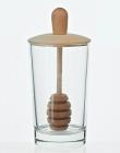 Банка для меда Home Kitchen 200мл с деревянной крышкой и ложкой для меда