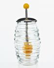 Банка для меду Home Kitchen 250мл з металевою кришкою і ложкою для меду