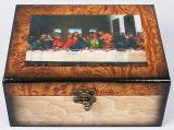 """Набір з двох дерев'яних шкатулок """"Живопис Таємна вечеря"""", 20x16,5x9см і 18x14,5x7см"""