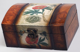 "Деревянная шкатулка ""Дженнифер Flower Wild Rose"", 16.5x12.5x8см"