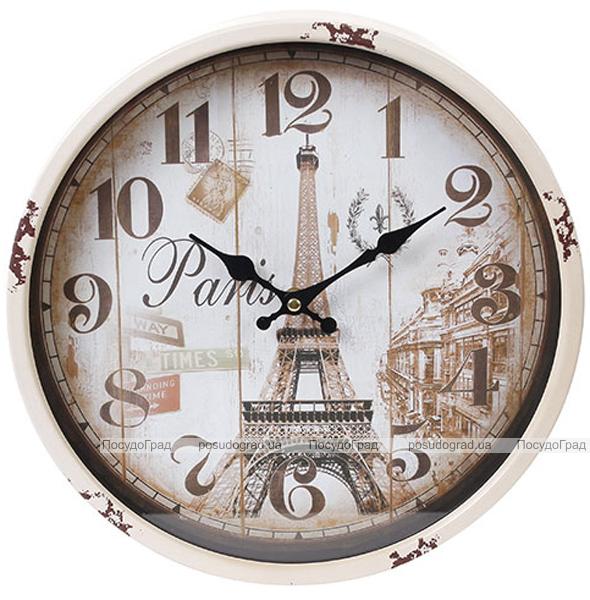 "Часы настенные ретро ""Париж"" Ø30см"