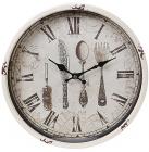 """Часы настенные ретро """"Столовые приборы"""" Ø30см"""